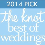 "our icon for the ""2014 pick BEST OF WEDDINGS"" on the Knot."