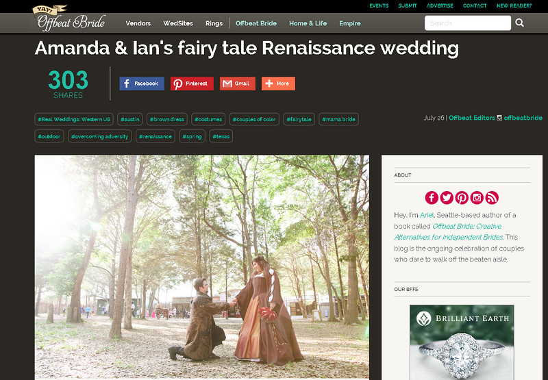 Offbeat Bride feature - Amanda & Ian - Sherwood Forest Faire