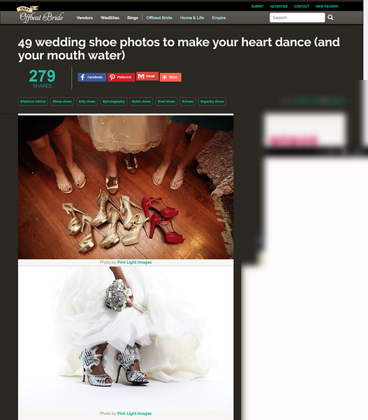"Offbeat Bride blog feature - June 2016 ""Wedding Shoes"""