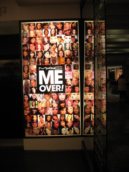 MAC Me Over! - the campaign that showed up in Northpark Mall - September 2011.  You can see my photo 5th row up from the bottom. :)  coolest thing ever!