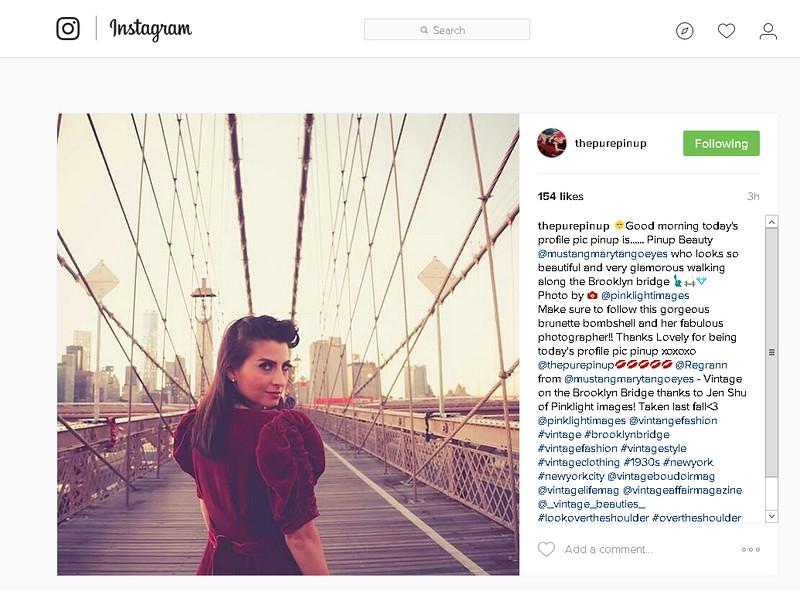 Instagram feature! - Brooklyn Bridge vintage image by Pink Light Images