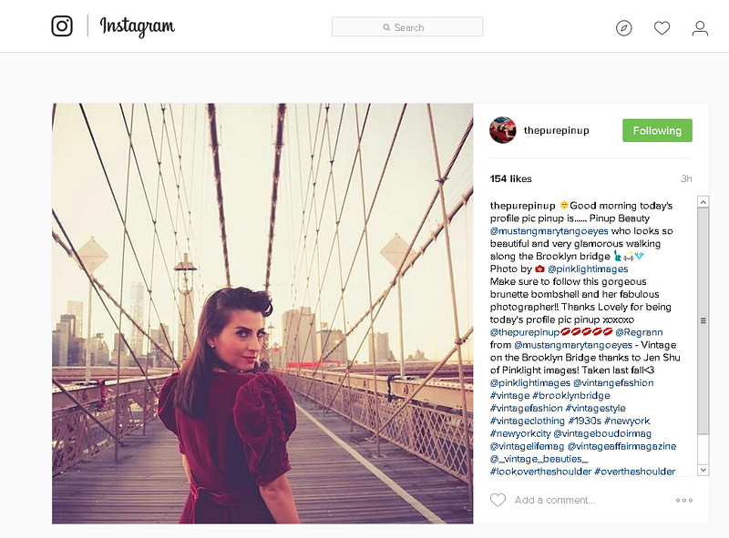 Instagram feature! - Brooklyn Bridge vintage image by Pink Light Images