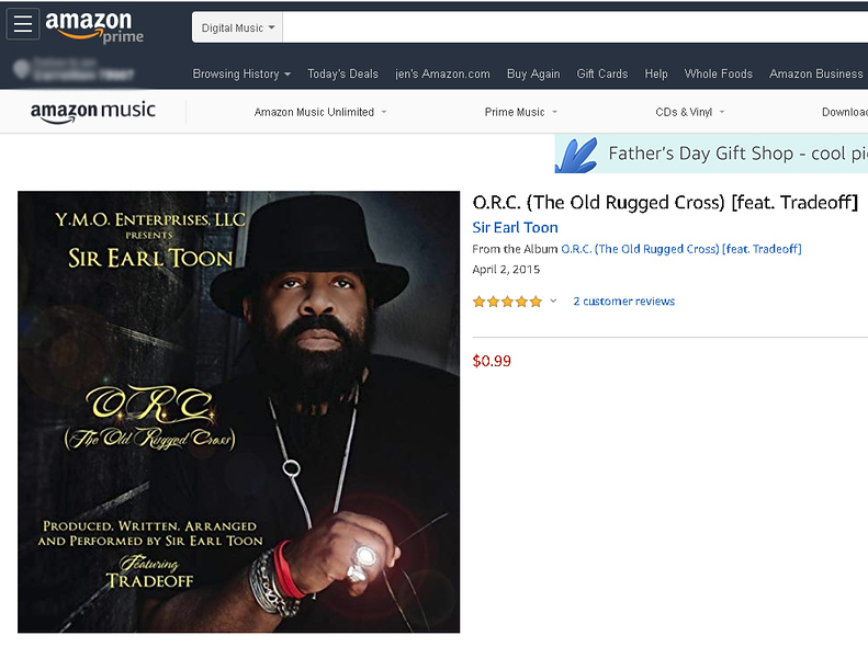 Sir Earl Toon - music graphic Amazon Music - April 2015