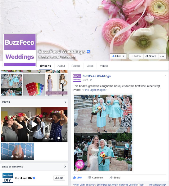 Buzz Feed Weddings - Grandma catches bouquet!