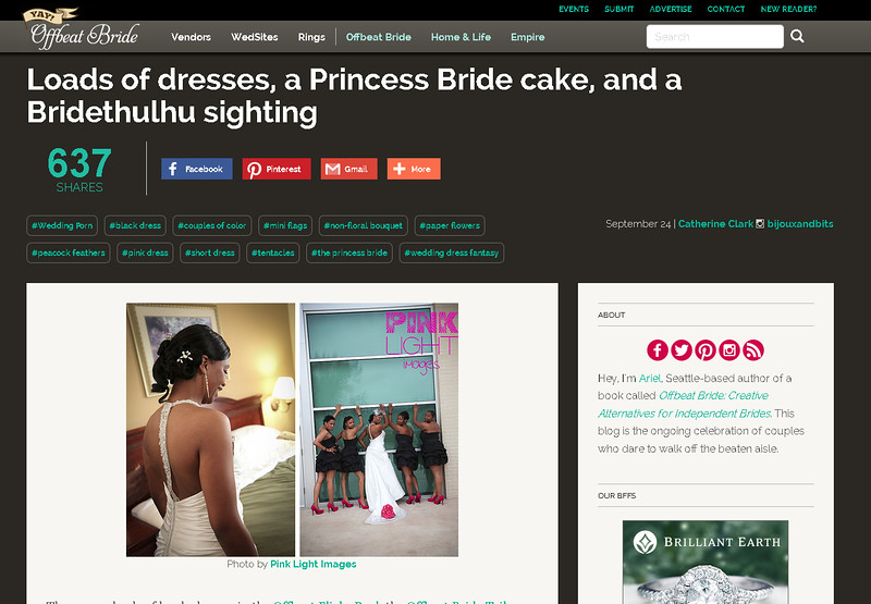 Offbeat Bride feature - Carlisa and her wedding party