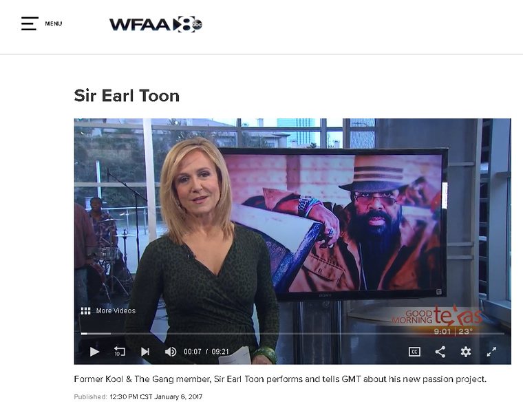 Sir Earl Toon - WFAA interview and performance - January 2017