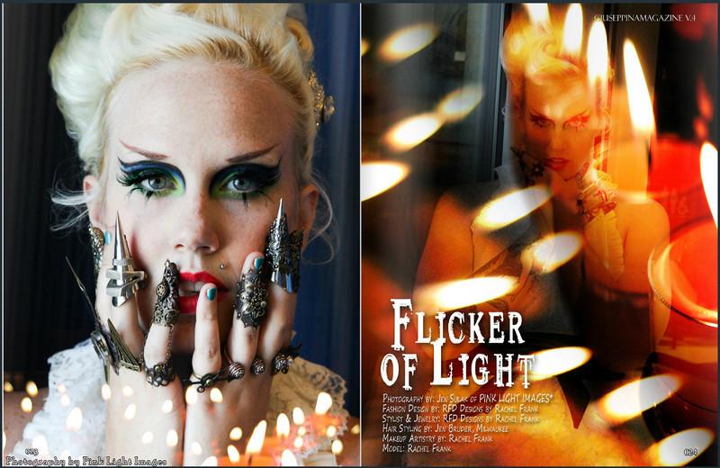 Feature in Giuseppina Magazine - 10/10/13<br /> Photography: Pink Light Images<br /> Model/MUA/Designer:  Rachel Frank, RFD by Rachel Frank<br /> Hair: Jen Bruder, Milwaukee WI<br /> Model Citizens workshop, Green Bay WI