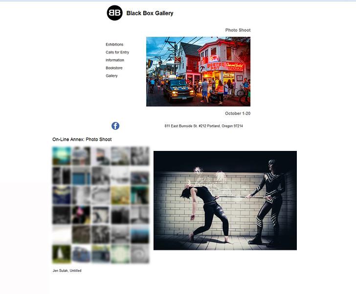 Gallery:  Black Box Gallery - online exhibit October 2015