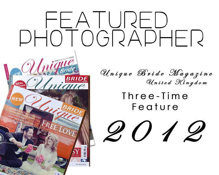 My wedding features in Unique Bride Magazine - 2012