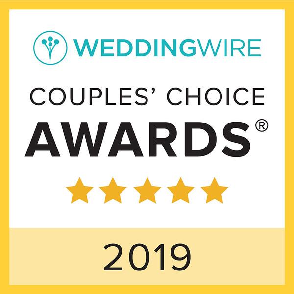 Couples Choice Award- Wedding Wire 2019