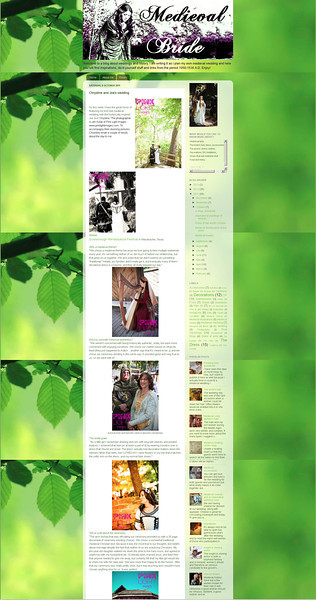 Wedding Feature on The Medieval Bride!  Chrystine and Joe told all about their wedding day and she featured it!<br /> <br /> Posted date: Oct 8th, 2011