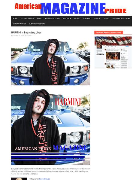 American Pride magazine - image published 10/17/17