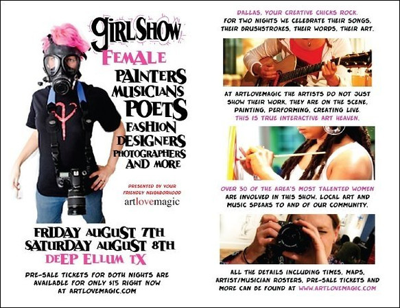 """Art Love Magic 2009<br /> I was the feature inspiration for the entire show called """"GirlShow"""".  The show's theme was Atomic Pink and everything revolved around women artists and our contributions to this city."""