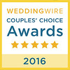 WINNER: Couples' Choice Award 2016 - Wedding Wire