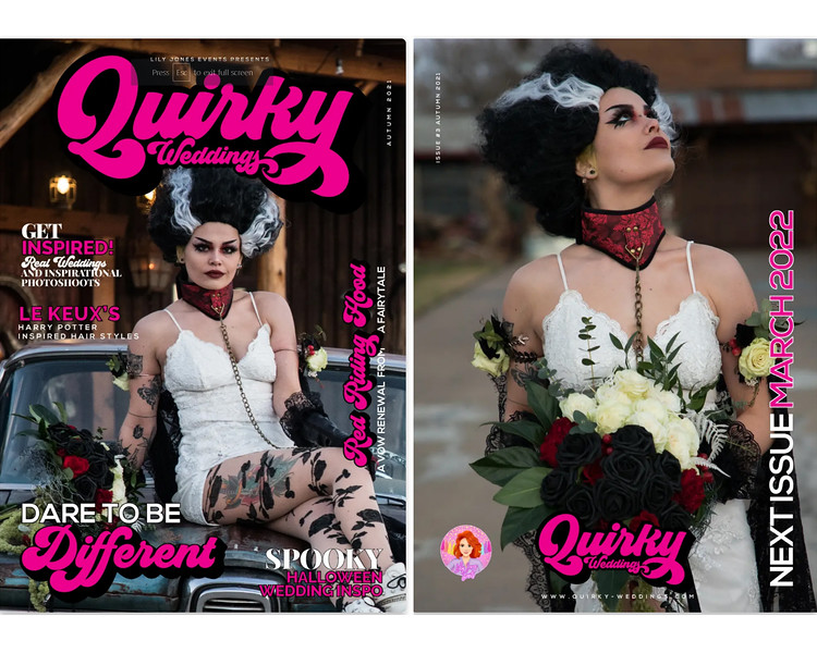 The COVER of Quirky Weddings Magazine - September 2021