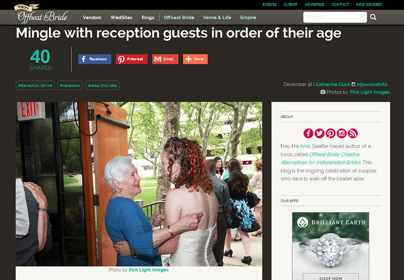 Offbeat Bride feature - Mandy & Eric