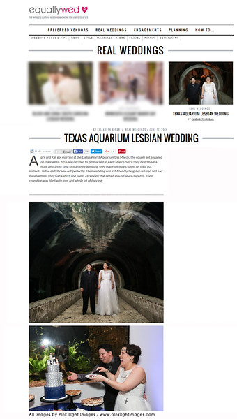 Equally Wed - blog feature! Dallas World Aquarium - June 2016