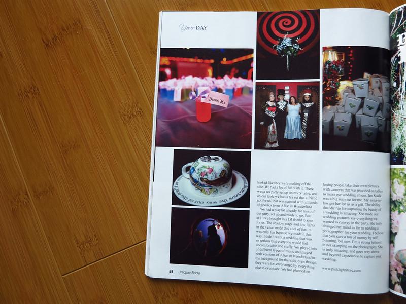 Unique Bride Magazine feature : Wedding Photography 2012