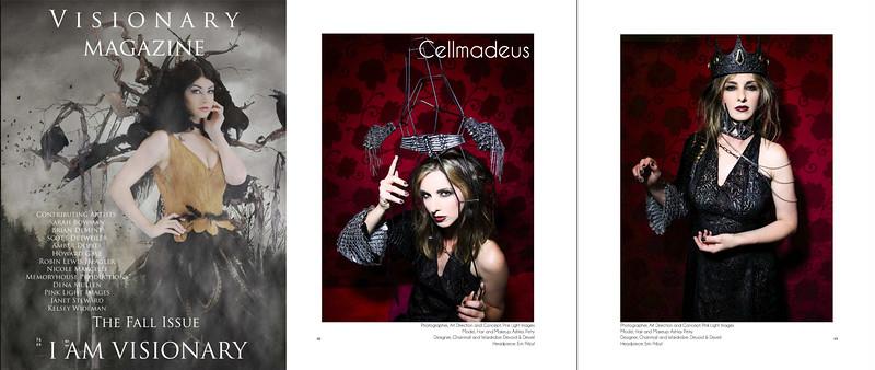 "FEATURE: Visionary Magazine - ""Cellmadeus"" - Sept 2015"
