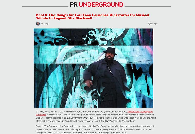 Sir Earl Toon - PR Underground 2017
