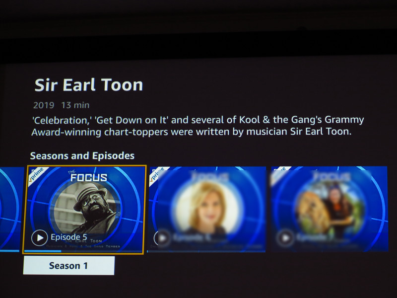 Sir Earl Toon - interview on the Focus - Amazon Prime 2019