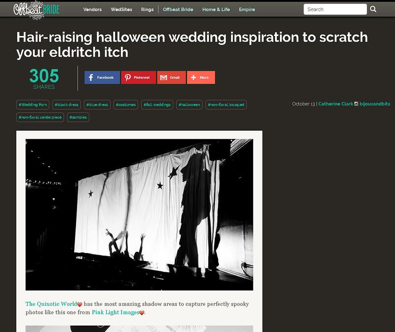 Offbeat Bride feature image - Halloween blog! 10/13/16