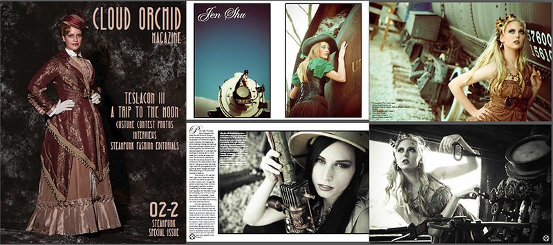 Cloud Orchid Magazine Feature - February 2013 - Steampunk Special Issue