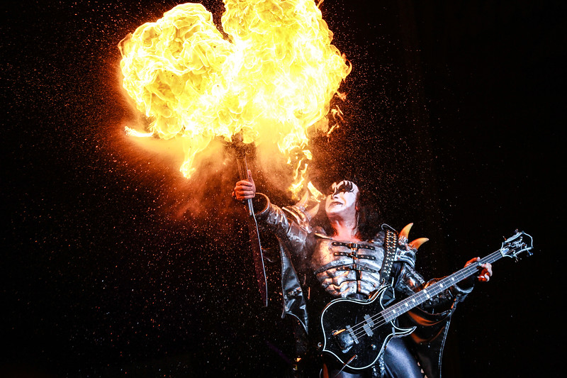 Gene Simmons of KISS. Rockfest 2013.