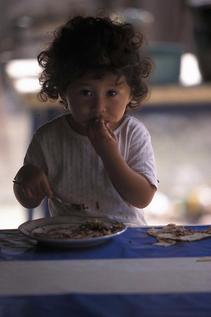 mexican girl eating