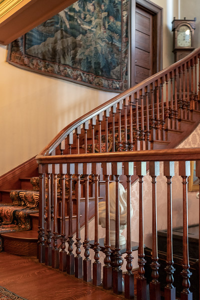 Stairway leading to second floor of Fenyes Mansion