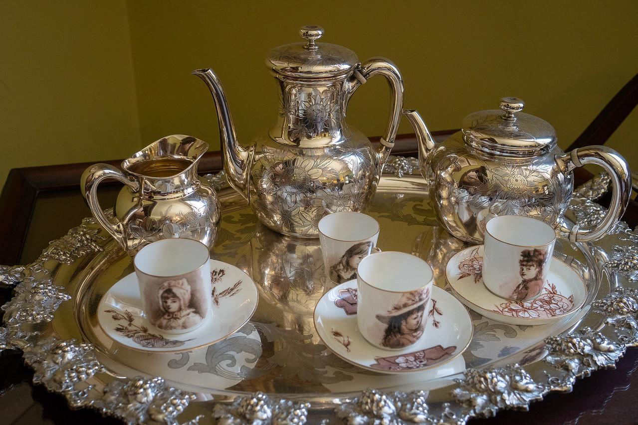 Teacups painted by Eva Scott Fenyes