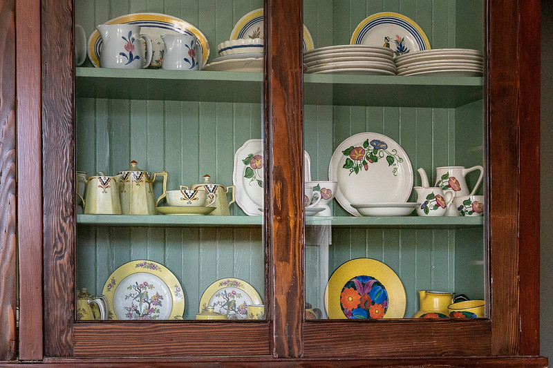 A portion of Eva's breakfast service collection, Fenyes Mansion