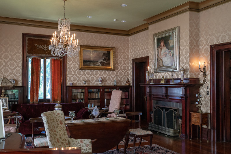 Drawing room, Fenyes Mansion.  Babsie's portrait.