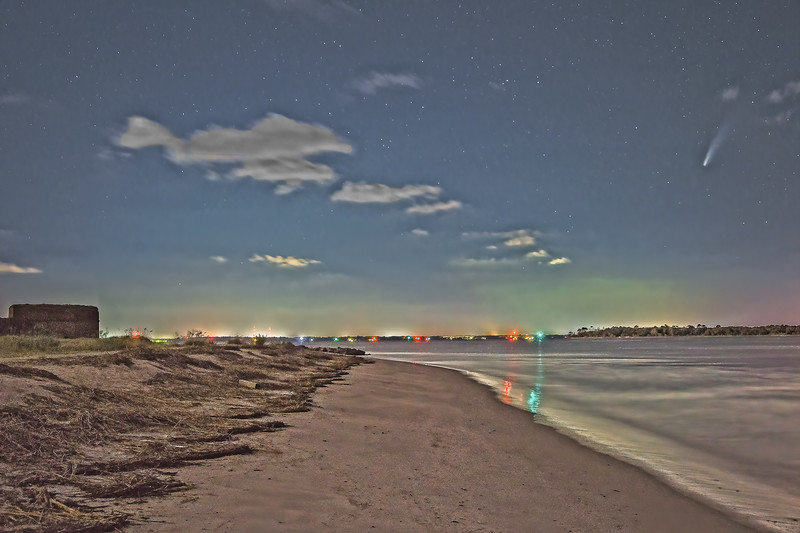 Comet Neowise and Stars over St. Marys River
