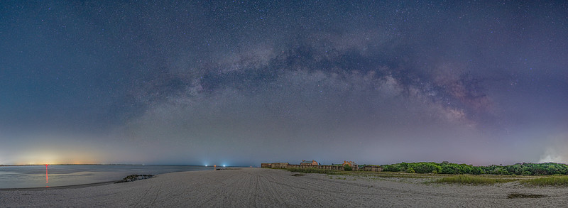 Rainbow Milky Way over Fort Clinch