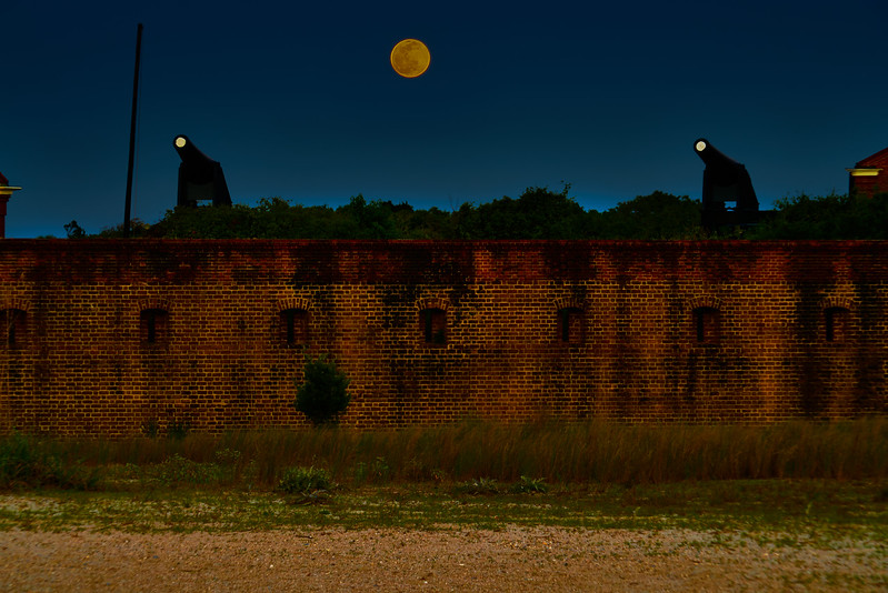 Moon Rise over Fort Clinch