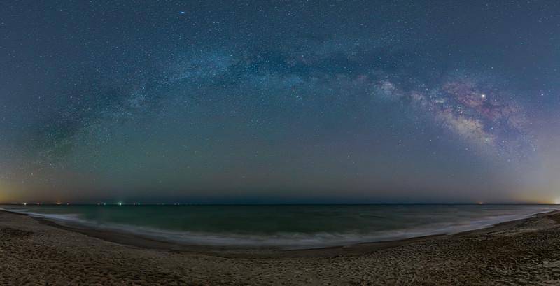 Milky Way Rainbow over Atlantic Ocean
