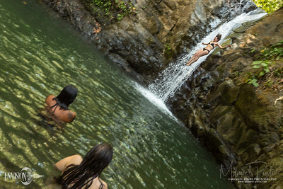 Waterfall jumping