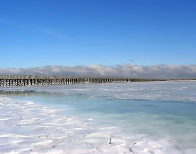 FROZEN OVER - DUXBURY BAY