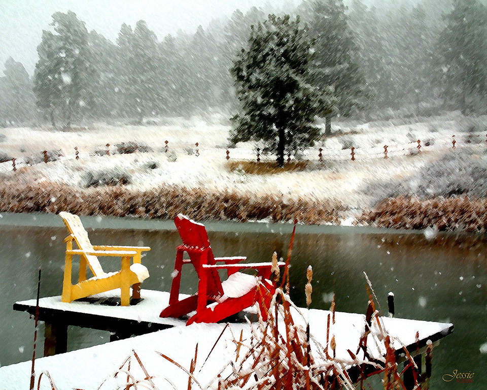 Snowy Dock - Pagosa Springs, Colorado<br /> ORDER #811278