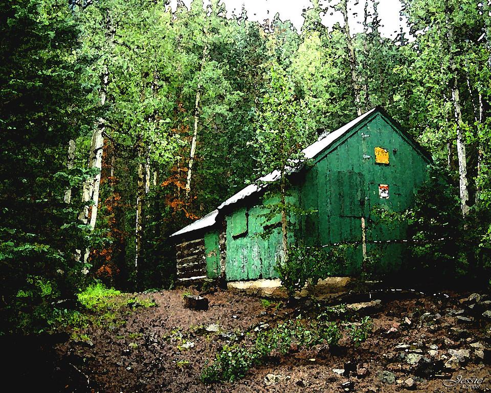 Rustic shelter Cabin, Inner Basin Trail - Flagstaff, Az.<br /> Order #87190