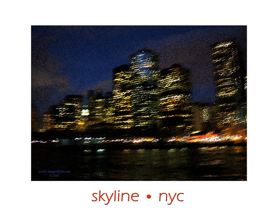Watercolor Impression of the New York Skyline.<br /> ORDER #712217