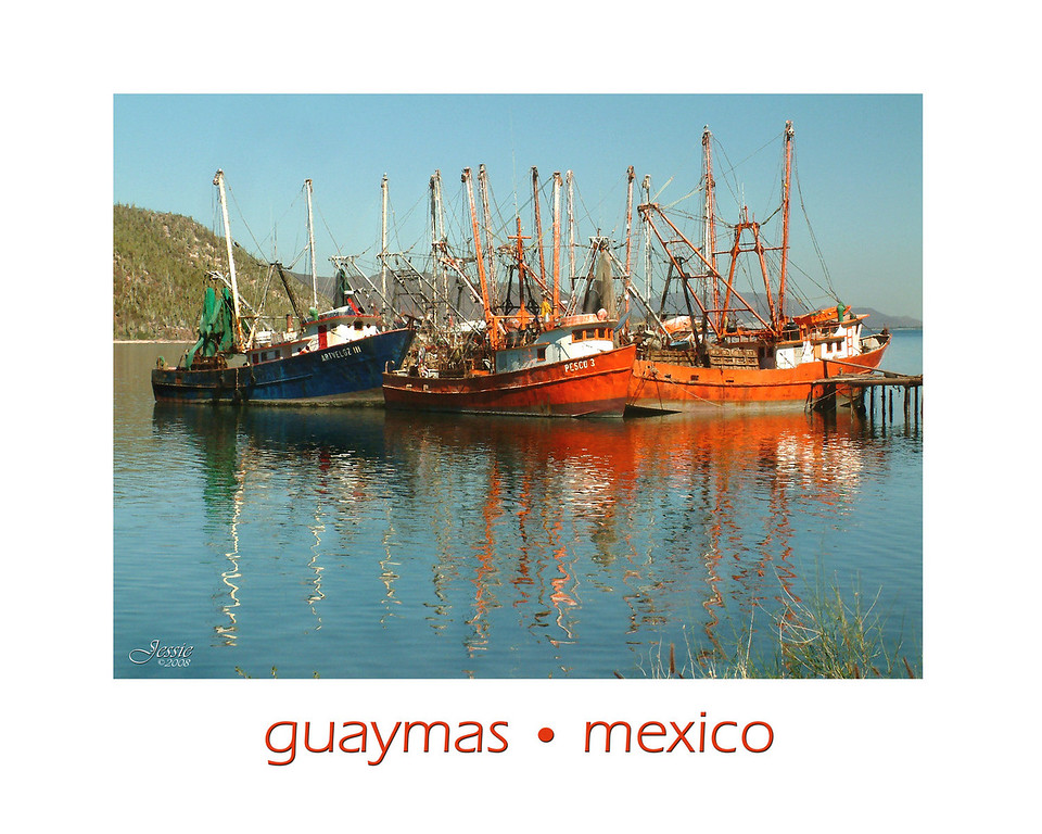 Fishing boats at Guaymas Bay in the Sea of Cortez.<br /> ORDER #82106