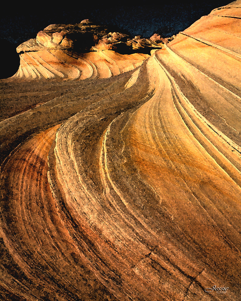 "Part of ""The Wave"" rock formations in North Central Arizona.<br /> ORDER #74107"