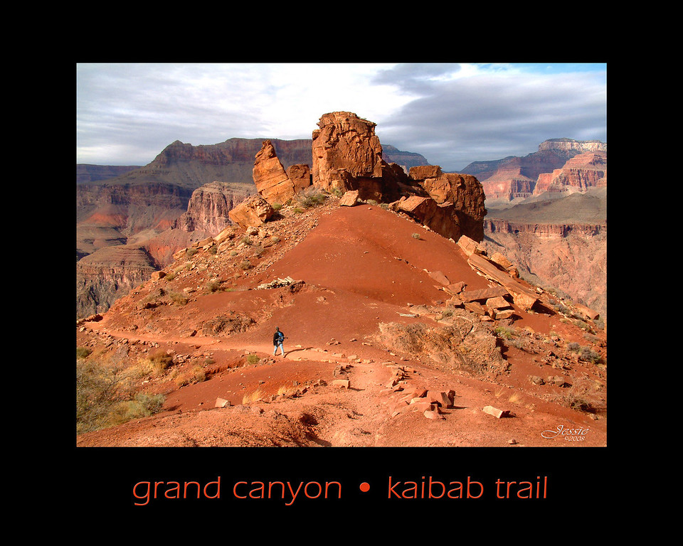 For most of its 6.5 mile length the South Kaibab Trail follows the top of a ridge and has extensive views of the Grand Canyon. The trail descends 4,800 feet to the Colorado River.<br /> ORDER #512313