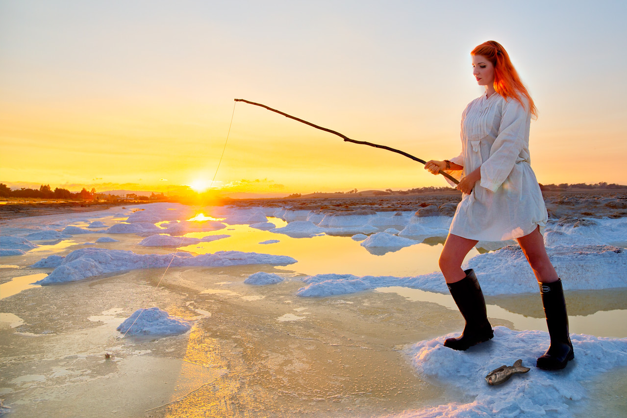 Fishing on drift ice