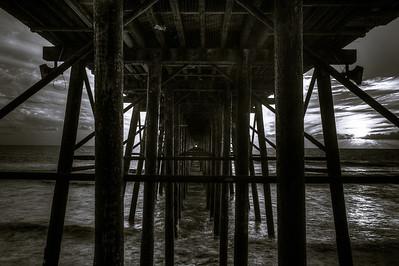 Under Pier BW