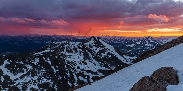 Sunset over the High Peaks