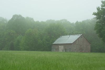 Misty Morning Barn