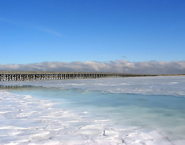FROZEN OVER - DUXBURY BAY